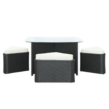 Hub 5 Piece Dining Set with Cushions