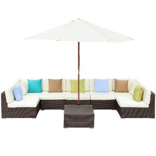 Monterey 8 Piece Deep Seating Group with Cushions