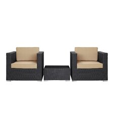 Burrow 3 Piece Deep Seating Group with Cushion
