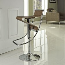 Zig-Zag Adjustable Swivel Bar Stool