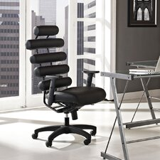 Pillow High-Back Leather Executive Office Chair
