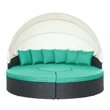 Quest Canopy 4 Piece Sectional Daybed Seating Group with Cushions