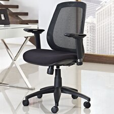 <strong>Modway</strong> Cruise Mid-Back Mesh Office Chair with Adjustable Armrests