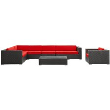 Palm Springs 7 Piece Sectional Seating Group with Cushions