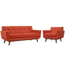 Employ Arm Chair and Loveseat Set
