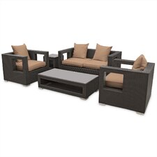 Lunar 5 Piece Deep Seating Group with Cushions