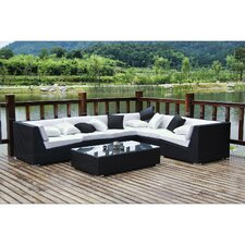 Lambid 7 Piece Sectional Deep Seating Group with Cushions