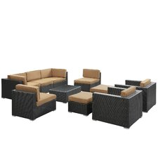 <strong>Modway</strong> Avia 10 Piece Sectional Deep Seating Group with Cushions
