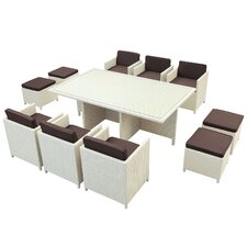 <strong>Modway</strong> Reversal Outdoor 11 Piece Dining Set with Cushions