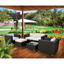 Malibu 5 Piece Deep Seating Groups with Cushions