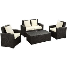 Fountain 4 Piece Deep Seating Group with Cushions