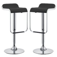 "LEM 23"" Adjustable Swivel Bar Stool (Set of 2)"
