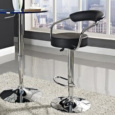 "Diner 24.5"" Adjustable Swivel Bar Stool with Cushion"
