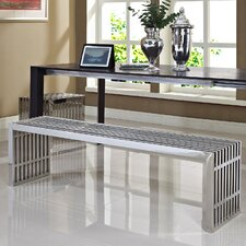 <strong>Modway</strong> Gridiron Stainless Steel Bench (Set of 2)