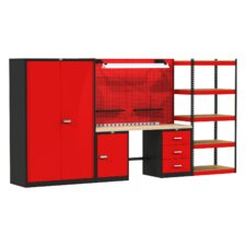Fort Knox Mixed Storage Modular Wood Top Workbench