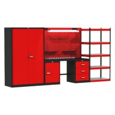 Fort Knox Mixed Storage Modular Steel Top Workbench