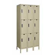 <strong>Hallowell</strong> DigiTech Electronic Locker Triple Tier 3 Wide (Knock-Down) (Quick Ship)