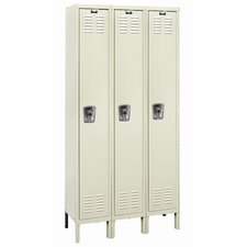 <strong>Hallowell</strong> ReadyBuilt Three Wide Single Tier Locker  (Assembled) (Quick Ship)