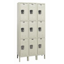 Galvanite Locker Triple Tier 3 Wide (Assembled)