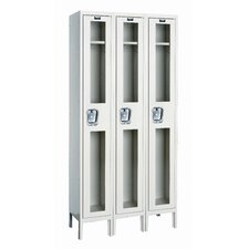 <strong>Hallowell</strong> Safety-View Stock Lockers - Single Tier - 3 Sections (Unassembled)