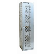 <strong>Hallowell</strong> MaxView One Wide Single Tier Locker in Sport Silver (Assembled)