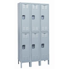 <strong>Hallowell</strong> MedSafe Locker Double Tier 3 Wide (Assembled)