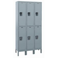 Maintenance-Free Quiet Locker Double Tier 3 Wide (Assembled) (Quick Ship)