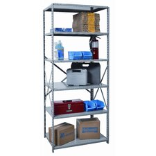 "Hi-Tech Medium-Duty Open Type 87"" H 6 Shelf Shelving Unit"