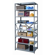 Hi-Tech Shelving Heavy-Duty Open Type Starter Unit with 8 Shelves