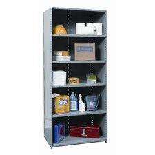 "Hi-Tech Shelving Heavy-Duty Closed Type 87"" H 6 Shelf Shelving Unit"