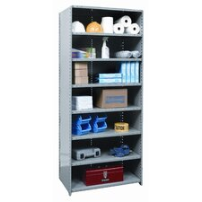 Hi-Tech Shelving Medium-Duty Closed Type Starter and Optional Add-on Unit with 8 Shelves