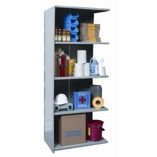 "Hi-Tech Extra Heavy-Duty Closed Type 87"" H 4 Shelf Shelving Unit Add-on"