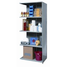"Hi-Tech Medium-Duty Closed Type 87"" H 5 Shelf Shelving Unit Add-on"