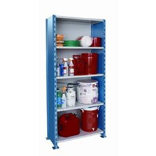 "H-Post Shelving 123"" High Capacity Closed Type Starter Unit with 5 Shelves"
