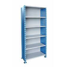 "<strong>Hallowell</strong> H-Post Shelving 123"" High Capacity Closed Type Starter Unit and Optional Add-on Unit with 6 Shelves"