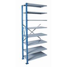 H-Post Shelving High Capacity Open Type Add-on Unit with 8 Shelves