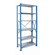 "<strong>Hallowell</strong> H-Post Shelving 87"" High Capacity Open Type Starter Unit and Optional Add-on Unit with 6 Shelves"