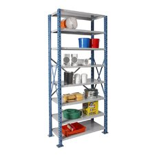 "H-Post Shelving 123"" High Capacity Open Type Starter Unit with 8 Shelves"