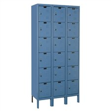 Premium Locker 6 Tier 3 Wide (Knock-Down)