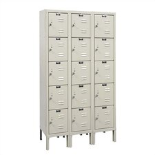 <strong>Hallowell</strong> Premium Stock Lockers - Five Tiers - 3 Sections (Assembled)