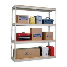 "Double Rivet Boltless Decking 84"" H 7 Shelf Shelving Unit Add-on"