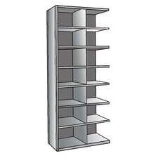"Hi-Tech Metal Bin Shelving Add-on Unit (14) 18"" W x 12"" H Bins"