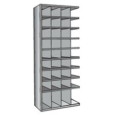 "Hi-Tech Metal Bin Shelving Add-on Unit (32) 9"" W x 9"" H, (4) 9"" W x 12"" H Bins"