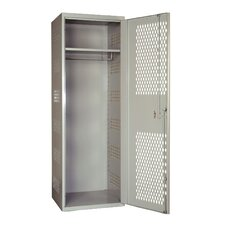 SecurityMax High Security Welded Locker with Diamond Perforated Door in Platinum (Assembled)