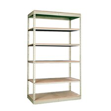 "Rivetwell Single Rivet Boltless 84"" H 6 Shelf Shelving Unit Starter"