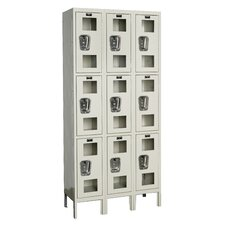 Safety-View Locker Triple Tier 3 Wide (Knock-Down) (Quick Ship)