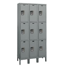 Maintenance-Free Quiet Locker Triple Tier 3 Wide (Knock-Down)