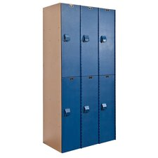 <strong>Hallowell</strong> AquaMax Plastic Locker Double Tier 3 Wide (Assembled) (Quick Ship)