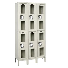 Safety-View Locker Double Tier 3 Wide (Assembled) (Quick Ship)