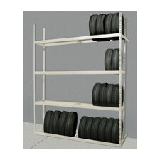 Rivetwell Shelving Tire Storage Starter Unit with 5 Levels